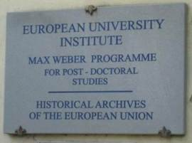 European University Institute Sign