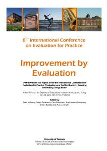 Improvement by Evaluation cover page
